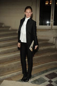 Elizabeth Von Guttman wore a look from the Spring 2015 collection to the Valentino Spring Summer 2015 Haute Couture show, the 28th of January 2015 in Paris