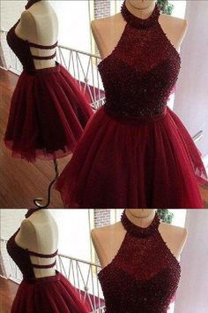 Burgundy Homecoming Dress, Cute Party Dresses, Short Homecoming Dress, Party Dresses For Teens, Cheap Party Dresses Short Homecoming Dresses Source by criseliziane Backless Homecoming Dresses, Burgundy Homecoming Dresses, Burgundy Dress, Quince Dresses Burgundy, Prom Gowns, Ball Gowns, Evening Dresses, Dama Dresses, Hoco Dresses
