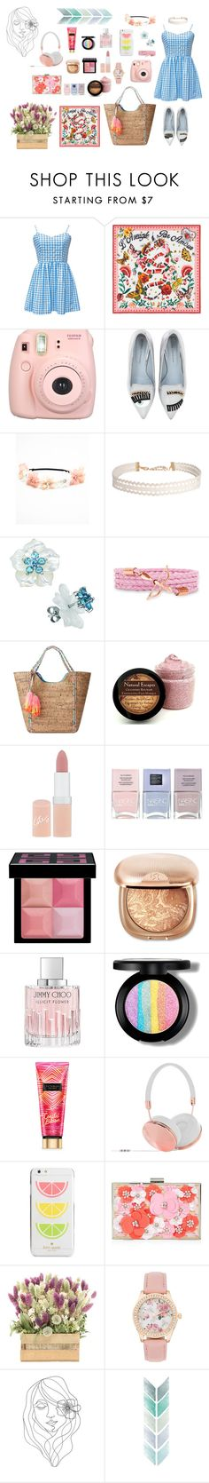 """""""I'm Happy To Be Me"""" by flowerdreams on Polyvore featuring Gucci, Fujifilm, Chiara Ferragni, Humble Chic, Lilly Pulitzer, Rimmel, Nails Inc., Givenchy, Jimmy Choo and Frends"""