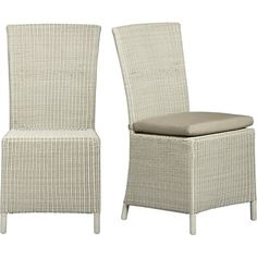 Captiva Seaside White Side Chair and Cushion in Dining, Kitchen Chairs | Crate and Barrel