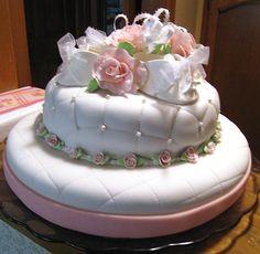 Christening Cake for two little girls....so sweet!