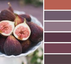 Fig color inspiration,mauve and teracotta color palette - Find tons of color palettes for your home decor ,party etc..