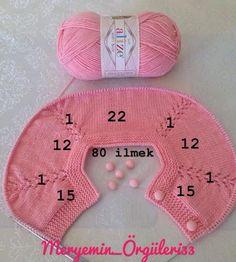 Cat Trace Knitting Model Baby Cardigan Making Baby Afghan Crochet, Crochet Motif, Diy Crochet, Baby Cardigan, Baby Clothes Sizes, Baby Barn, Baby Coat, Crochet Decoration, Drops Design