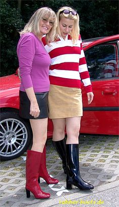Red and Black Rubber Boots