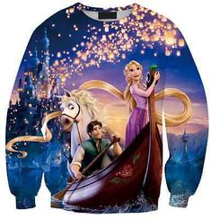 Disney-Rapunzel-Tangled-Max-Horse-Eugene-Flynn-Lantern-Boat-Light-Thin-Sweater