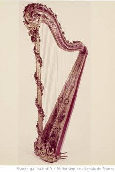 A harp that belonged to Marie Antoinette, 18th century