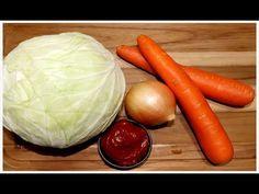 Um jeito diferente de comer repolho refogando uma delicia - YouTube Carrots, Cabbage, Vegetables, Youtube, Videos, Braised Cabbage, Rice Ball, Salads, Cakes