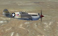 P-40 skin made for A2A P-40 by Tom Weiss , hosted at www.lockonfiles.com