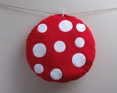 Toadstool Cushion from wildimaginationshop on etsy