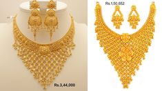 Gold Jewelry Design In India Code: 5246820197 Long Pearl Necklaces, Jewelry Necklaces, Diamond Necklaces, Jewelry Holder, Gold Jewellery Design, Gold Jewelry, Designer Jewellery, Gold Ring Designs, Glass Jewelry