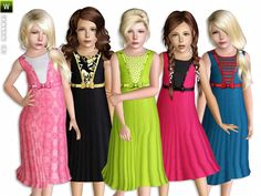 Tea Party dresses by Lillka - Sims 3 Downloads CC Caboodle