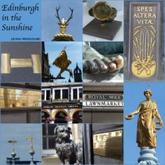 The sun was shining brightly in Edinburgh this morning, and all the gold-coloured things around the Royal Mile were glinting. Sunshine Photos, Old Town, Edinburgh, Scotland, Gold, Old City, Yellow