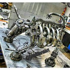 Merrill lynch bull cold hard art metal art