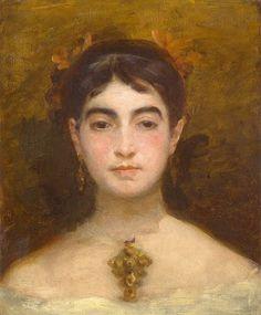 Marie Bracquemont (1841-1916) : Autoportrait (1870 - Rouen)