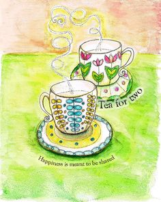 Tea Series Art Prints 8 x 10 size by SunnySpotStudio on Etsy, $20.00