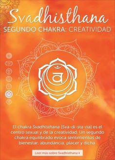 El segundo chakra,Svadhisthana, también se conoce como el chakra sexual y de la creatividad.     Se localiza debajo del hueso púbico, abajo del omb