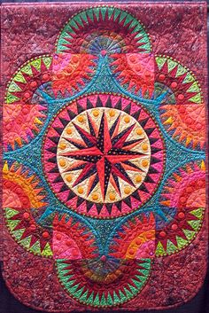Mariners compass, New York beauty Shared by www.nwquiltingexpo.com @NWQuilting Expo #nwqe #quilting