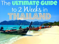 Detailed itinerary and guide for 2 weeks in Thailand, including Bangkok, Northern Thailand, and Thai Islands. The very best of Thailand in 2 weeks! 2 Weeks In Thailand, Thailand Vacation, Thailand Honeymoon, Phuket Thailand, Thailand Travel, Croatia Travel, Italy Travel, Honeymoon Ideas, Thai Travel