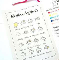 Made a weather symbol reference sheet for when I start my dailies in May. Put it…