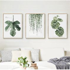 This Scandinavian style leaf art print will bring some green to your living space. It is made out of canvas and does not come with a frame. Material: Canvas Medium: Waterproof Ink Frame: No #LivingRoomDesigns