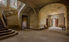 Inside the front doors at the Château de Gudanes