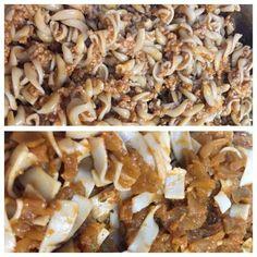Gluténmentes vegán padlizsános bolognai Vegan Food, Vegan Recipes, Fitt, Bologna, Stuffed Mushrooms, Drink, Vegetables, Stuff Mushrooms, Beverage