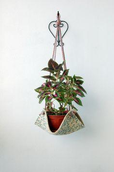 Practica el macram y cuelga plantas porta macetas - Porta macetas colgantes ...