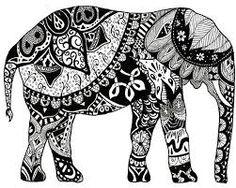 Resultado de imagen para elefante blanco y negro
