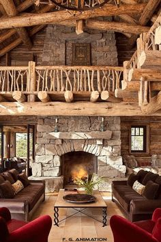 Cozy and Rustic Cabin Style Living Rooms 2019 Excellent Cabin Living Rooms Beautiful Home theater Stage Inspiring Style At Home, Style Rustique, Log Cabin Homes, Log Cabins, Cabins And Cottages, Rustic Design, Rustic Decor, Rustic Style, Farmhouse Style