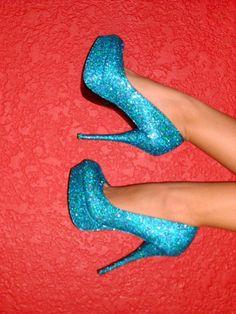 Blue Pumps High Heels sapato alto salto agulha plataforma