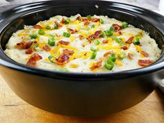 Try these twice baked mashed potatoes or loaded potato casserole. It's an easy recipe for a twice baked mashed potato casserole with bacon & cheese. Dutch Oven Ribs, Ribs In Oven, Twice Baked Mashed Potatoes, Loaded Baked Potato Casserole, Recipe Sites, Recipes, Cheeseburger Chowder, Easy Meals, Food