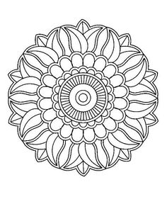 Pattern Coloring Pages, Cool Coloring Pages, Mandala Coloring Pages, Adult Coloring Pages, Coloring Books, Mandala Sketch, Mandala Drawing, Mandala Art, Mandala Pattern
