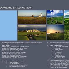 Scotland/Ireland 2016 Golf Tour, Scotland, Ireland, Tours, Irish