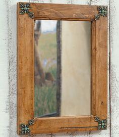 Turquoise Cross Mirror- Re-doing the bedroom!