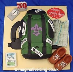 Imaginative Icing » Scouts Backpack Birthday Cake