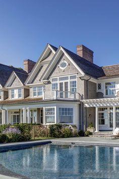 Smart Home Design, Home Interior Design, Colonial Exterior, Exterior Design, Bohemian House, Antique Hardware, Building Design, Long Island, Dream Homes
