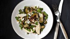 Roasted Brussels Sprouts and Apple Salad   27 Brussels Sprout Recipes That Want To Celebrate Thanksgiving With You