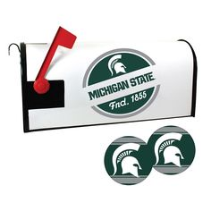 Michigan State Spartans Magnetic Mailbox Cover & Decal Set, Multicolor