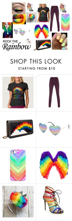 """""""ROCK THE rainbow"""" by nozoeli ❤ liked on Polyvore featuring Paul Smith, Monday, Les Petits Joueurs, Full Tilt, Casetify, Salvatore Ferragamo, Hannah Makes Things, women's clothing, women and female"""