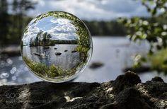 Lake in a crystal ball by eskorantanen