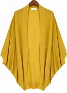 To find out about the Yellow Batwing Sleeve Oversize Loose Cardigan at SHEIN, part of our latest Sweaters ready to shop online today! Batwing Cardigan, Batwing Sleeve, Sweater Jacket, Hijab Fashion, Fashion Dresses, Blouses For Women, Sweaters For Women, Mode Kimono, Plus Zise