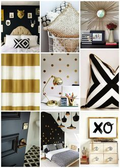 Black Gold Bedroom on Pinterest | Egyptian Home Decor, Gold Grey ...