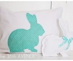 Cute bunny to use on a quilt, too!   Spring bunny pillow