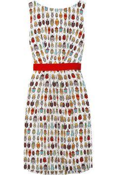 Milly-Juliana-Printed-Silk-Dress-1