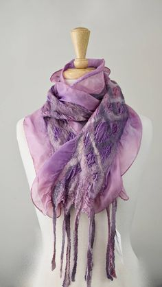 Unique Hand Made Woman's Silk & Wool Felt Nuno Ladies Scarf Shawl Wrap Winter Hand Dyed Wool Scarves Dusty Pink Mushroom 11845 by Feltedfibres on Etsy Nuno Felt Scarf, Wool Scarf, Pink Mushroom, Handmade Scarves, Silk Wool, Nuno Felting, Mulberry Silk, Dusty Pink, Womens Scarves