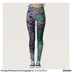 Grunge Mermaid Scale Leggings