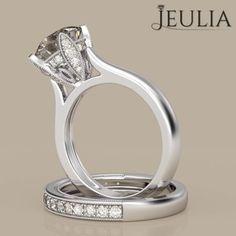 360 Review of Milgrain Round Cut White Sapphire Women's Ring