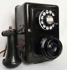 Telefono Antiguo Western Electric Mod. 653 A Wall Hotel 1930 9300 ml
