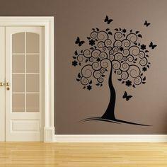 stickers-da-muro-albero-con-farfalle.jpg (550×550)