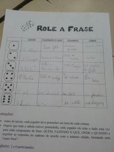 "Jogando ""Role a frase"""